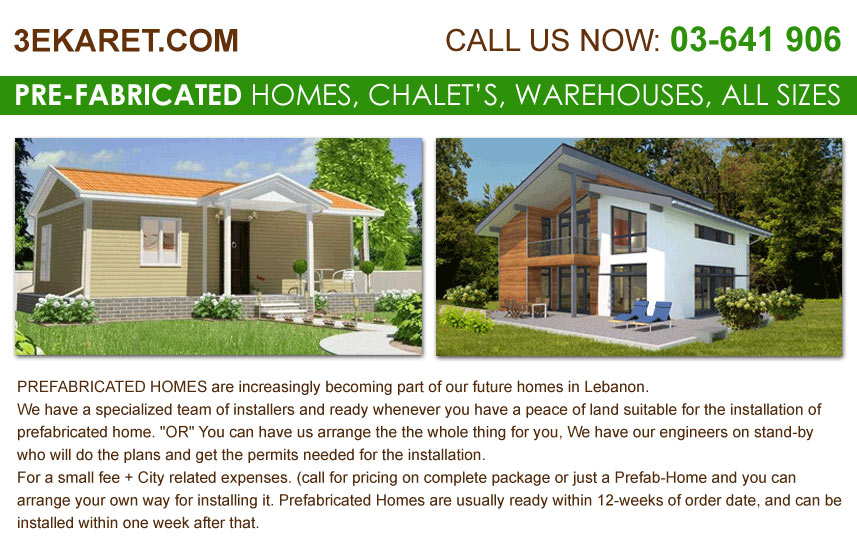 Prefabricated Houses: Lebanon Pre-Fabricated Homes, Chalet